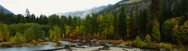 Stehekin River across from Stehekin Rustic Retreat